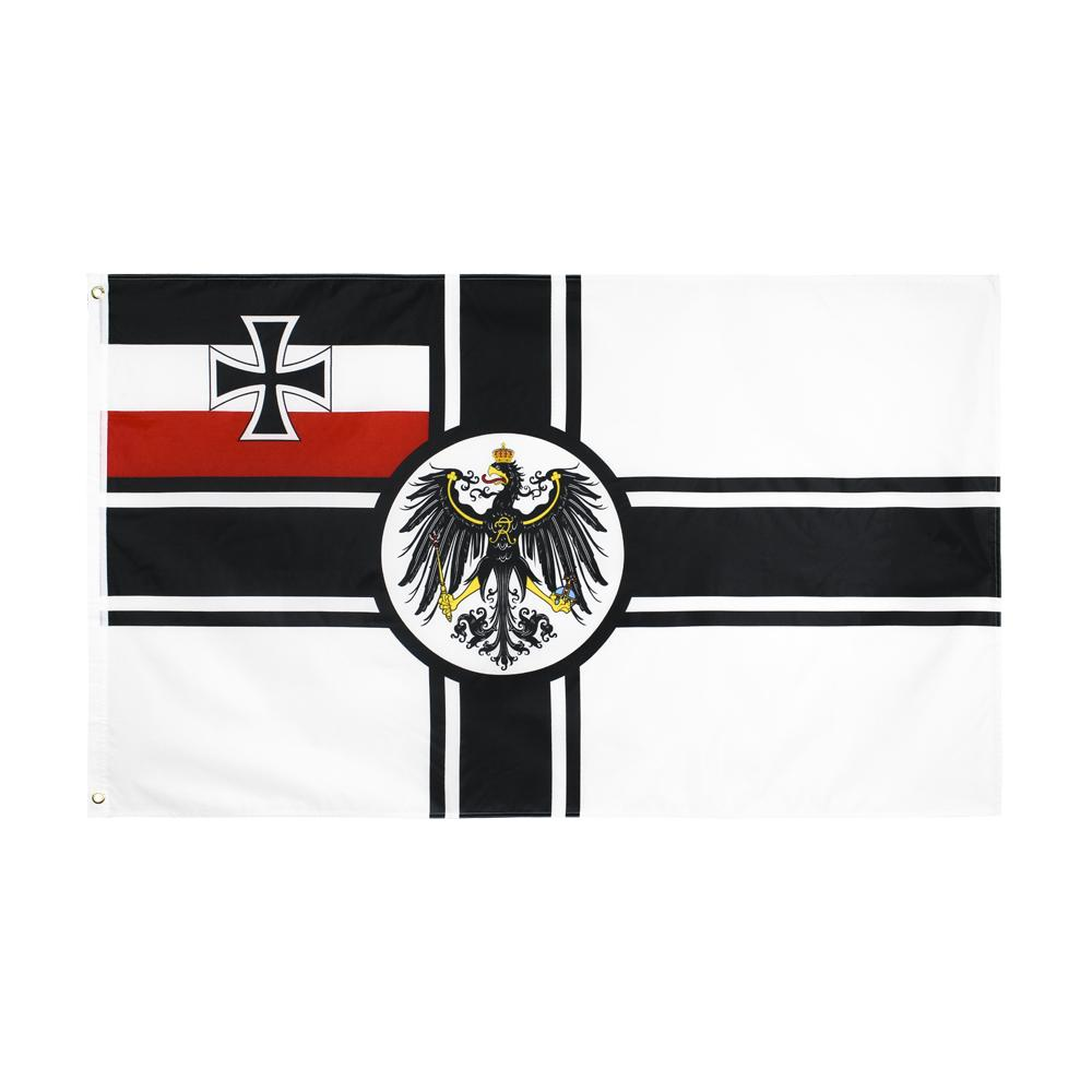 Alman İmparatorluk Reich Savaşı 1 Bayrak Büyük 3 X5 FT Ayak Deutschland Kreigsmarine Wehrmacht Deutsch Bayraklar Banner 90 * 150 cm Polyester Pirinç Grommets ile Ev Bahçe