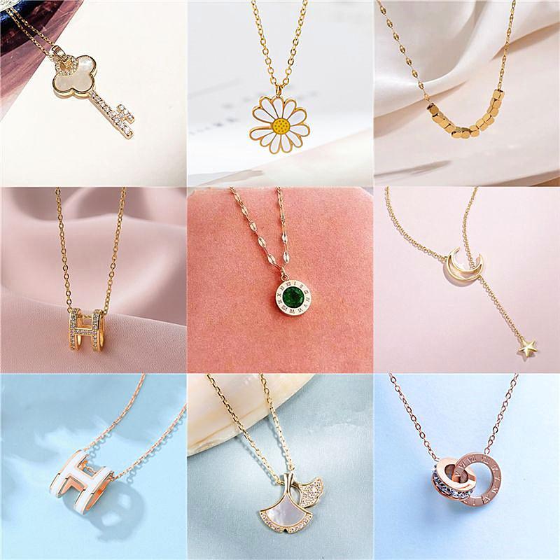 Collar de hada coreana exquisita collar de alto grado ligero versátil de lujo cadena de clavícula colgante de moda