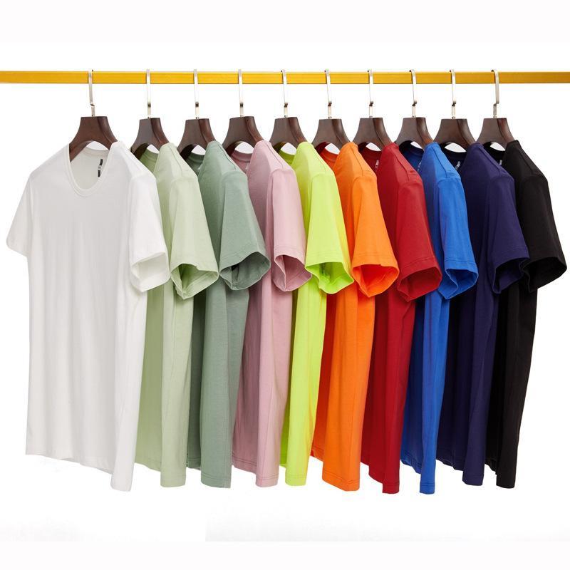 T-shirt da uomo in cotone di Shuirou T-shirt da uomo con scollo a manica corta a manica corta