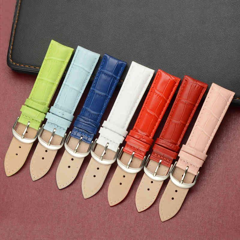 Bandes pour véritable cuir de vachette Hommes Watch Women Fashion Bracelet Bracelet Bracelet 12mm 14mm 16mm 18mm 19mm 20mm 22mm 24mm