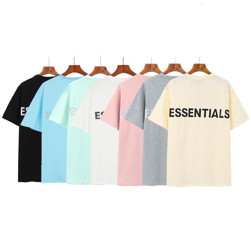 Névoa manga curta dupla fio casual reflexivo Meichaogao rua t-shirt para homens e mulheres