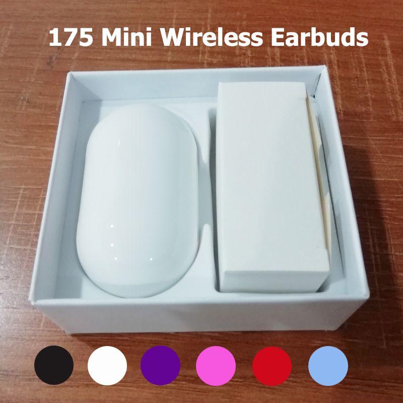 Üst Satıcı 175 Mini Bluetooth Kulak Tomurcukları Artı Kablosuz Kulaklık Kulaklık Kulaklık Mic ile Stereo Kulaklık Kulakiçi