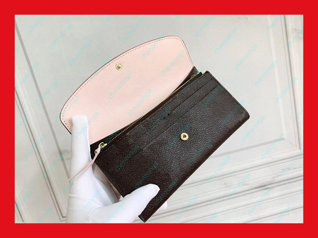 fashion Wholesale Classic Lady Leather Wallets Long Money Zipper Bag Coin Clutch Bags Wallet