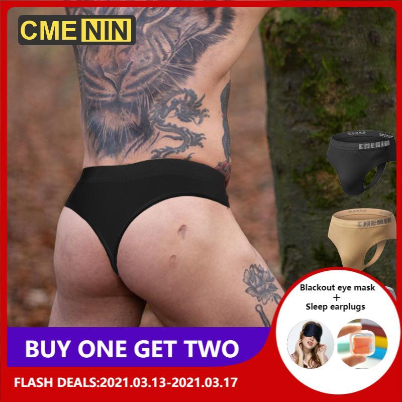 Biancheria intima sexy di CMENIN Underwear Jockstraps Uomo Thong Sexy G-Strings Cuecas Mutandine maschili Briefs Uomini gay Uomini Merdesanti Sissy Thong 2021