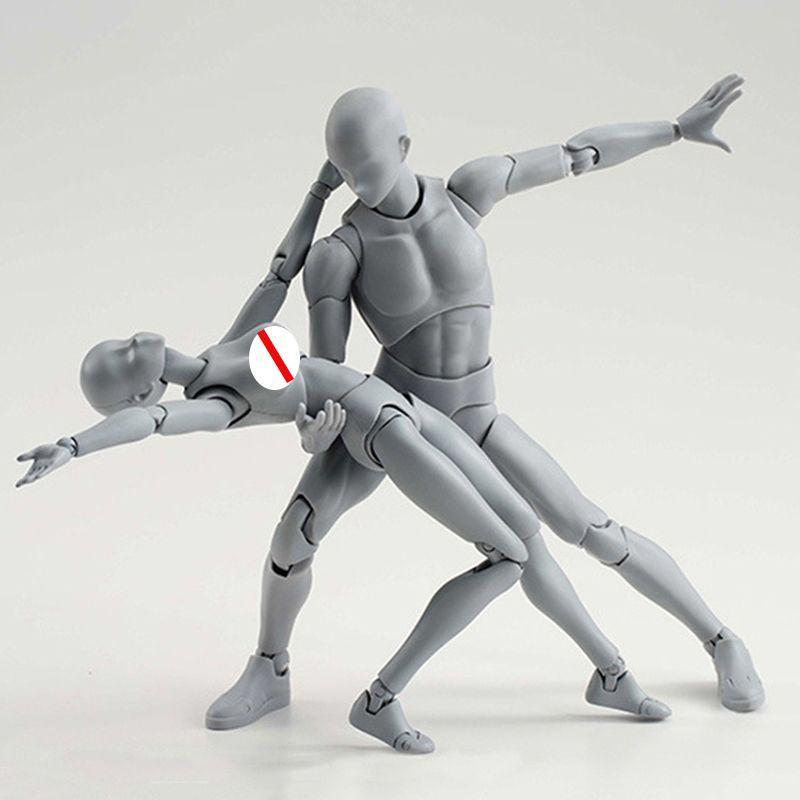 14 cm artista arte pintura anime figura dibujo dibujar masculino hembra movible cuerpo chan articulación acción figura juguete modelo dibujar maniquí 001 210426