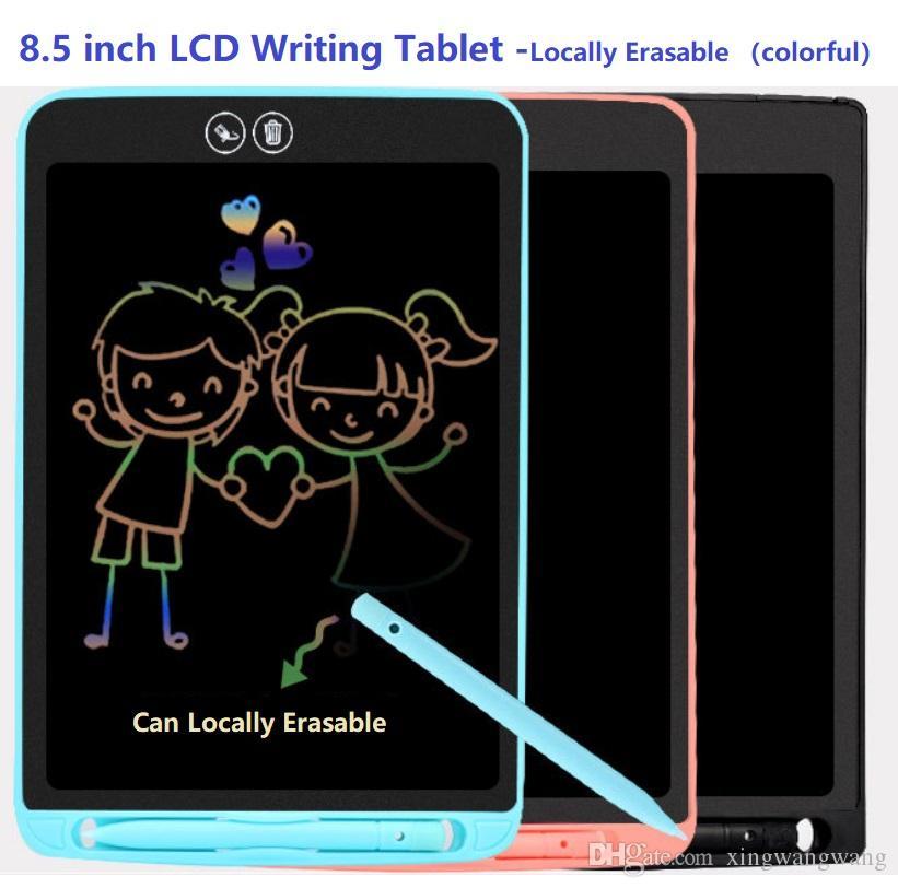 المحمولة 8.5 بوصة الملونة شاشات الكريستال السائل لوحة البساطة محلي القابلة للمسح منصات الكتابة اليدوية الرسم الإلكترونية للهدايا مع القلم