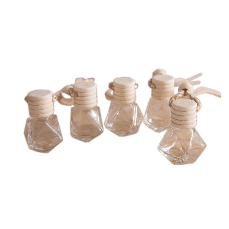 NEWCAR PARFUM Bouteille de voiture Pendentif de voiture Perfusion d'ornement de parfum pour huiles essentielles Diffuseur parfum bouteille en verre vide lld8606