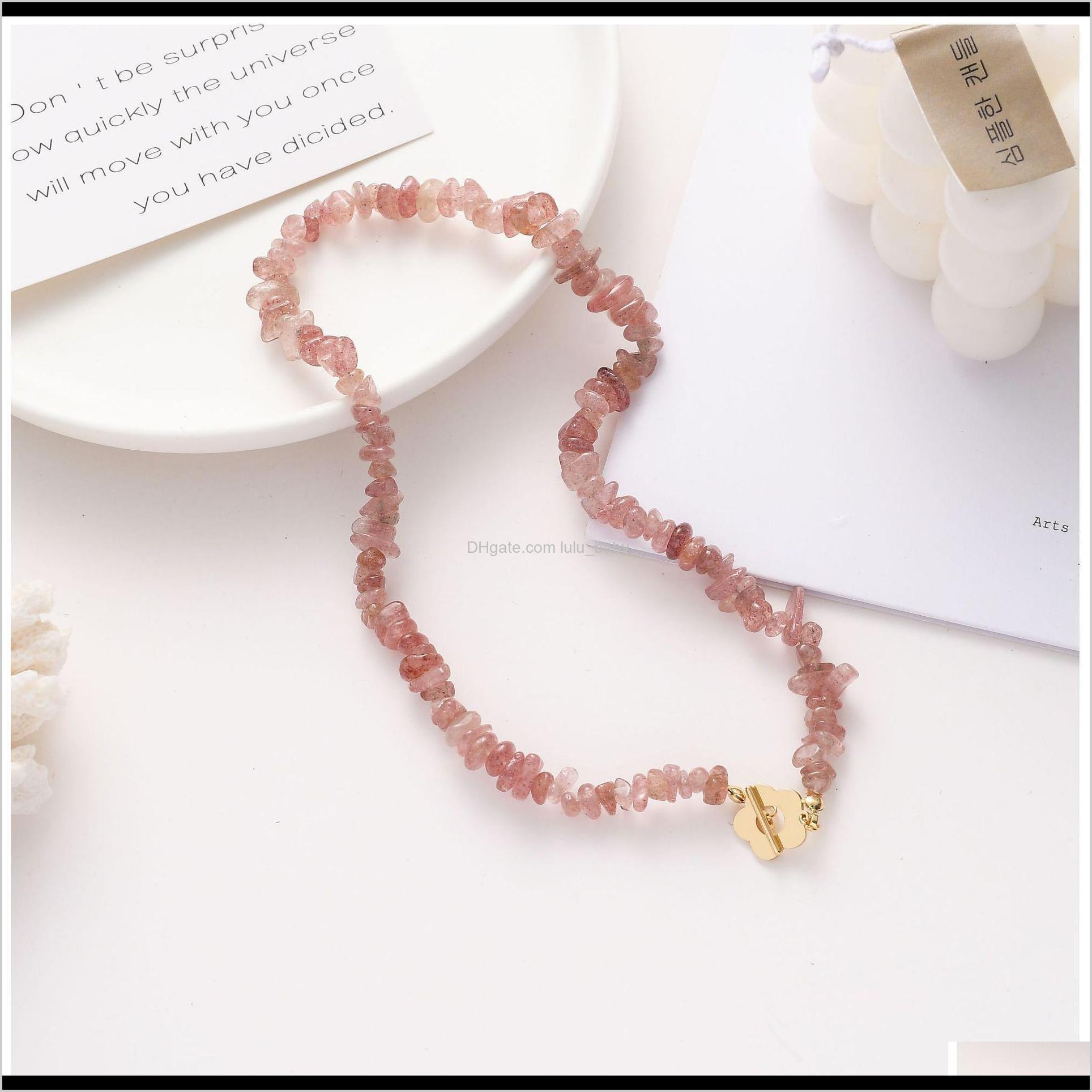 Braccialetto di modo delle donne Braccialetto di cristallo di fragole perline dolce elegante densità pendente gioielli 4a7qj acjlw