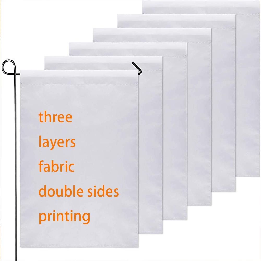 Leere Sbulimation Dekorative Schönheit Kunstwerk Gartenflagge 12x18inch Polyester Any Logo Print 30x45cm Banner