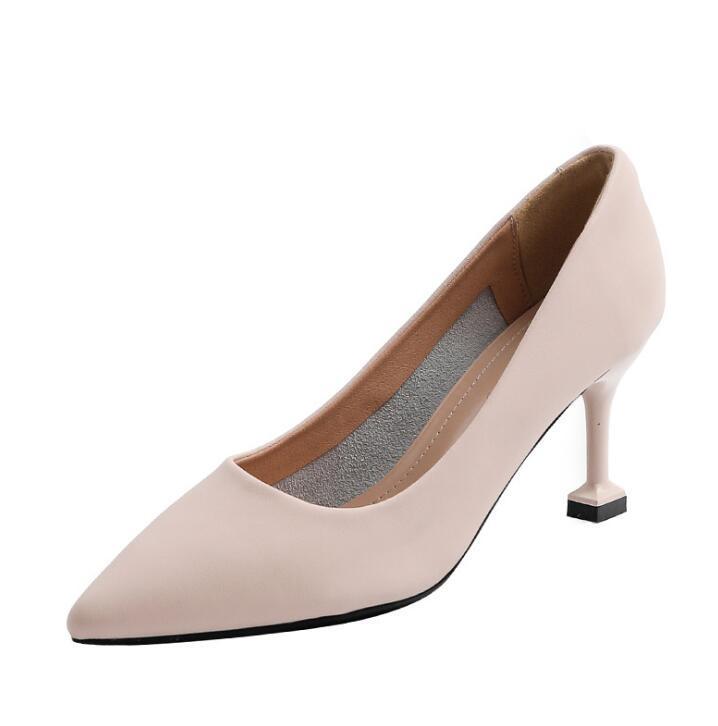Th006 zapatos de vestir de alta calidad para mujer tacones de cuero blanco negro para mujer zapato de boda de oficina de mujer