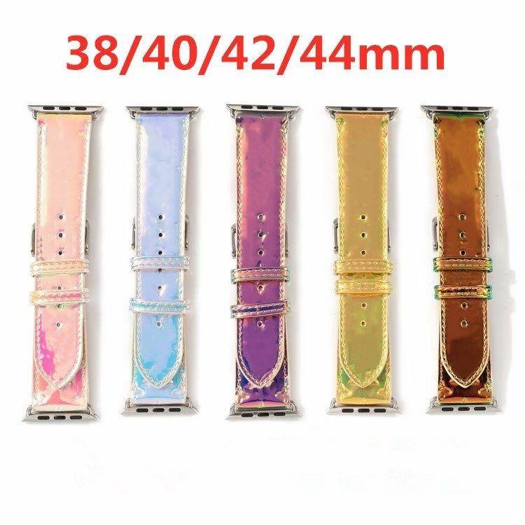 Mode-Designer-Uhr-Gurte für Uhren Serie 1 2 3 4 5 6 hochwertige Leder-Smart-Bands Deluxe-Armband-Armband-Armband-Weckbänder tragbares Zubehör
