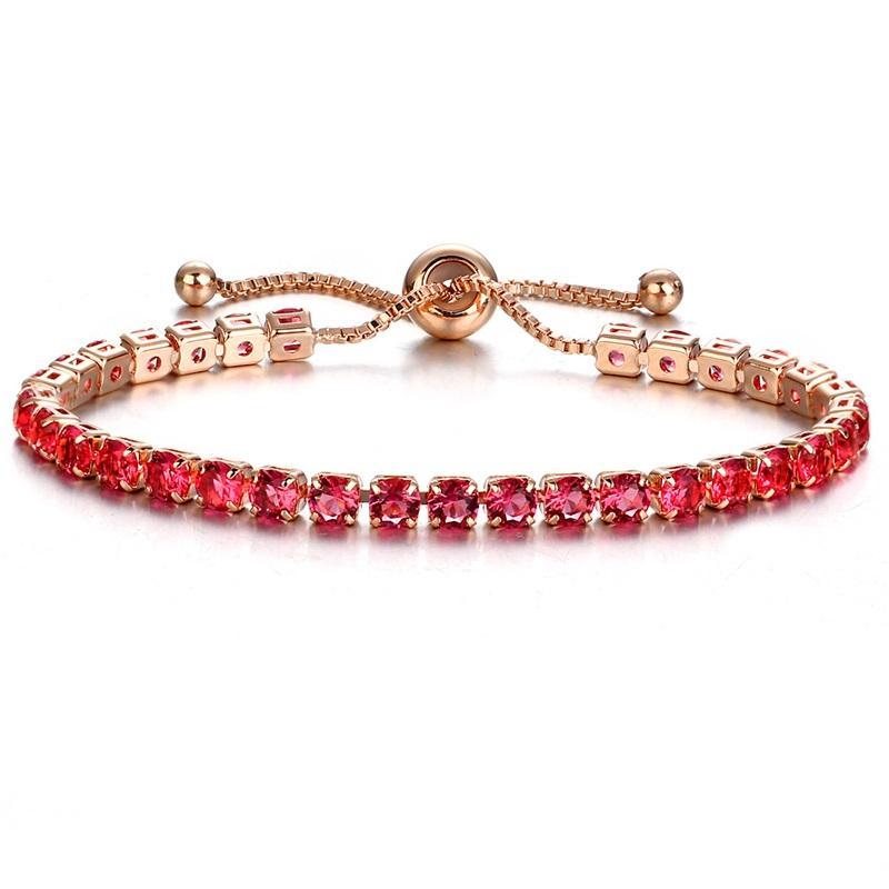 1 pcs gota transporte grande cristal pulseiras com zircon prata ouro pulseira branco verde rosa roxo verde mulheres mulheres presentes BR016 35 T2