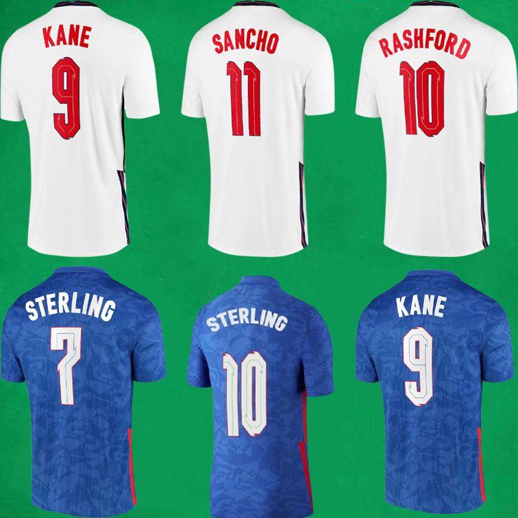 20 21 Kane Rashford Sancho Foden Grealische Fußball Jersey Männer + Kinder Kits Socken 2021 Sterling Mount Abraham DELE Coady National Team Football Hemden