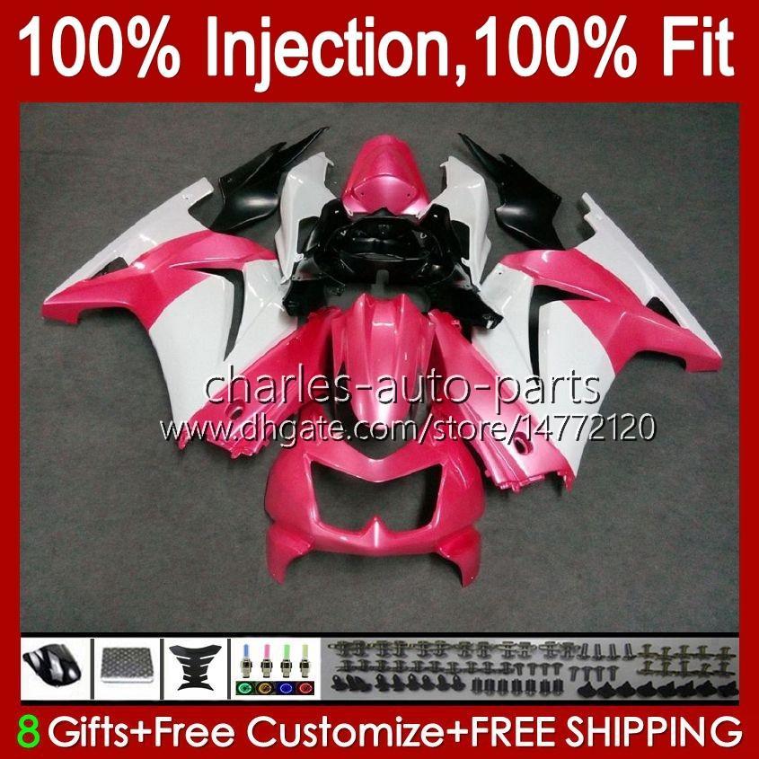 Инъекция для Kawasaki Ninja ZX250R EX250 2009 2009 2010 2011 2012 2012 13HC.53 Pink Black EX250R ZX-250R ZX250 ZX 250R 08 09 10 11 12 Обсуждение