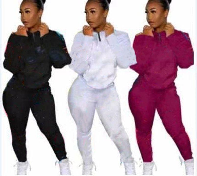 Frauen Jogger Anzüge 2 Stück Sets Hoodies Hosen Sweatsuit Herbst Winter Freizeitkleidung Langarm Pullover Yogo Leggings S-2XL Outfits 4470