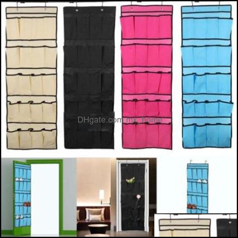 Holders Racks Housekee Organization Home & Gardentop Selling 20 Pocket Non-Woven Fabric Over The Door Shoe Organizer Space Saver Rack Hangin