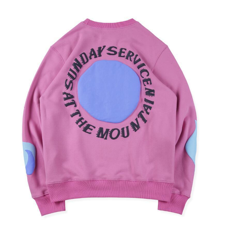 Nova espuma de domingo carta cpfm chama pelúcia solta casual homens e camisola feminina moda