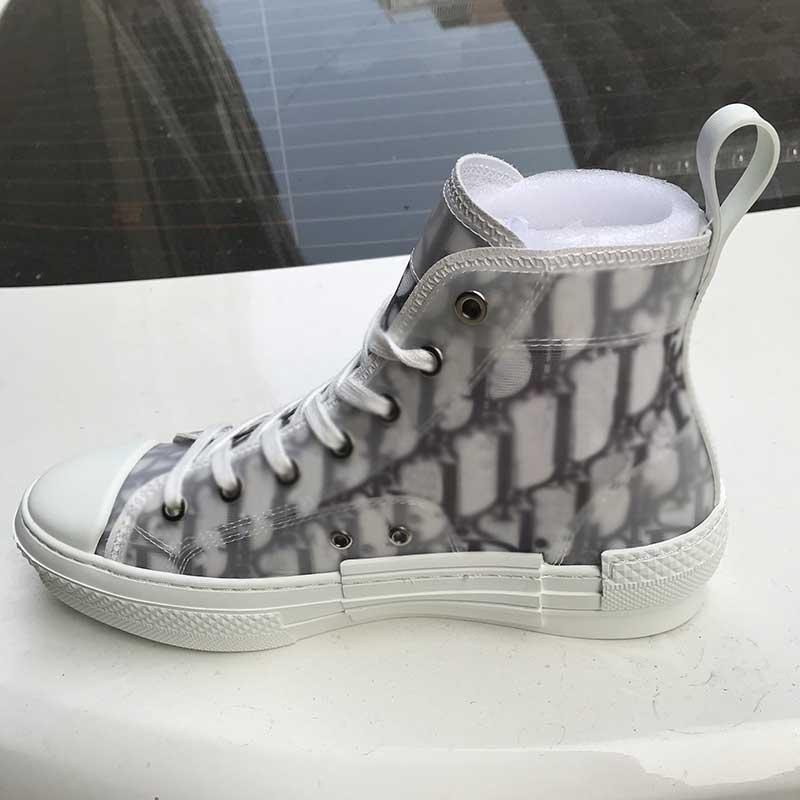 Lona clássica oblíqua homem casual sapatos para mulheres moda lace up white top qualidade designer sneaker com caixa azul
