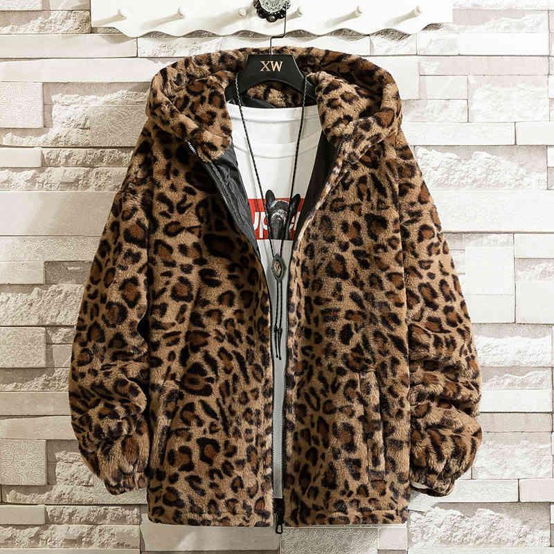 Весна сексуальная куртка леопарда мужчины и женщины с капюшоном пальто мода мода причинно-стрит верхняя одежда свободная ветровка одежда топы мужчины женщина