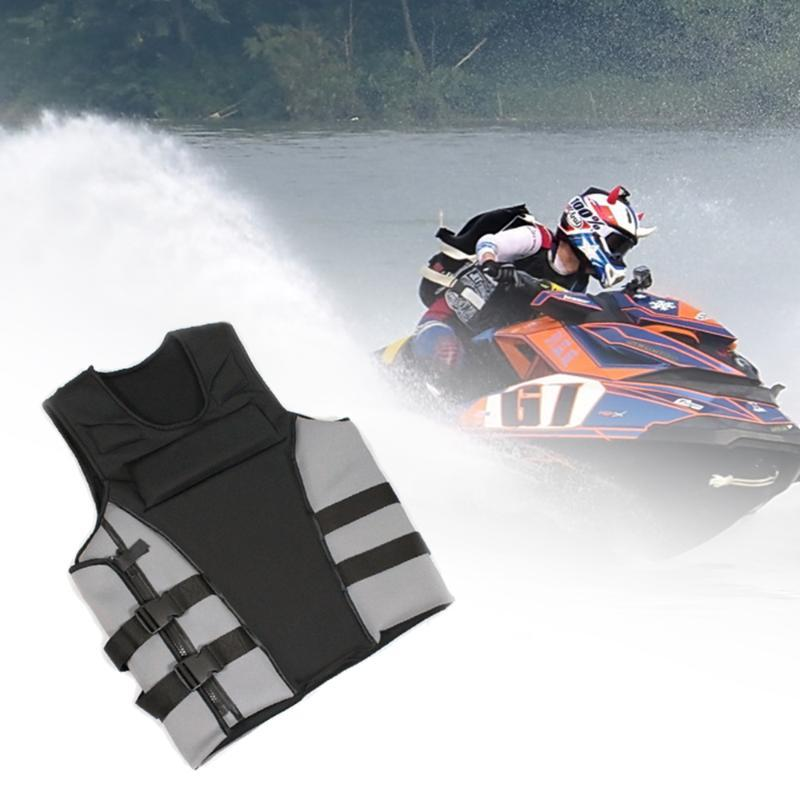 Life Vest & Buoy Swimming Boating Ski Drifting Thick With Whistle Water Sports Man Kids Jacket Fishing Polyester Adult