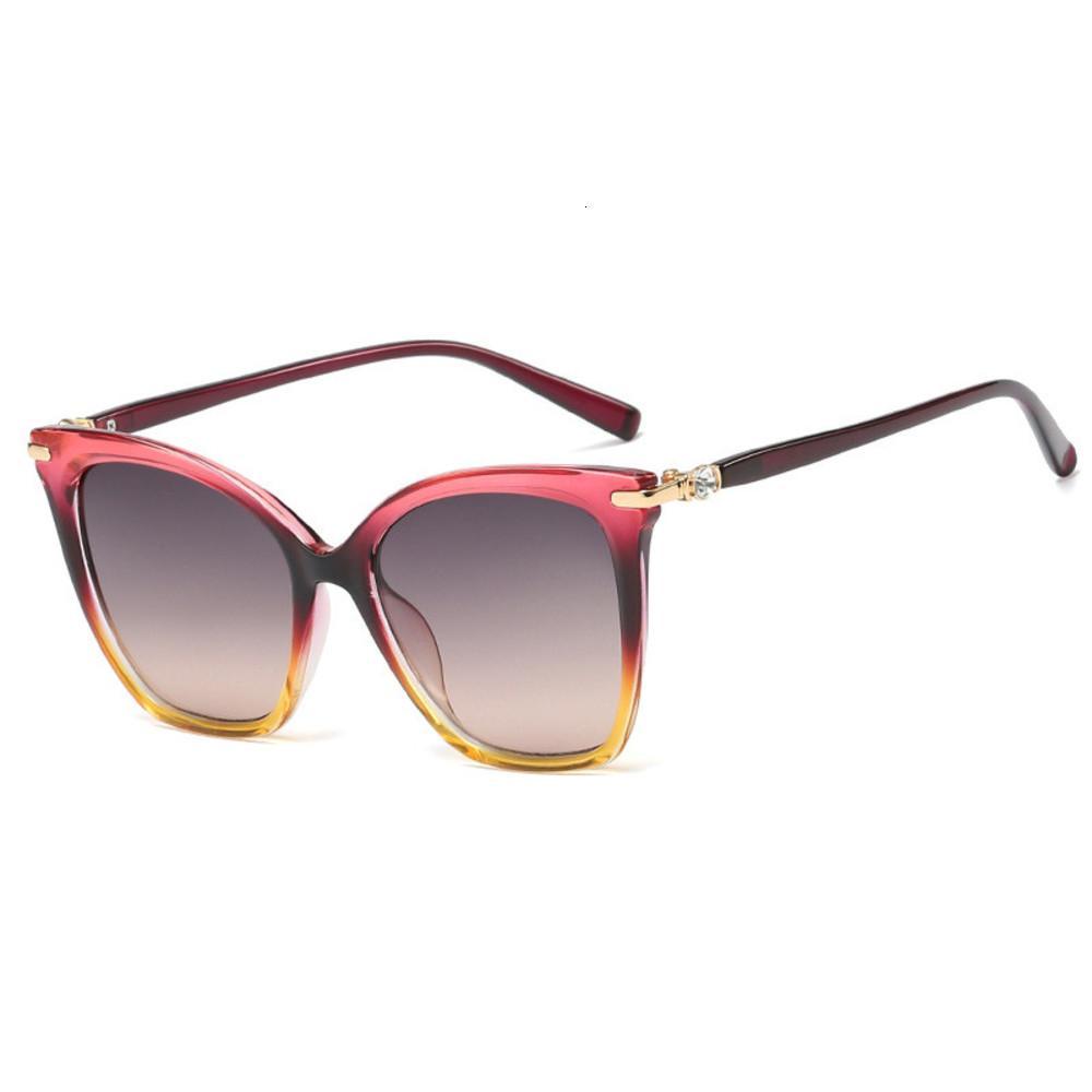 Fenchi gato olho óculos de sol mulheres Rhinstone sol vidro para fêmea preto marrom shad lunte de soleil femme