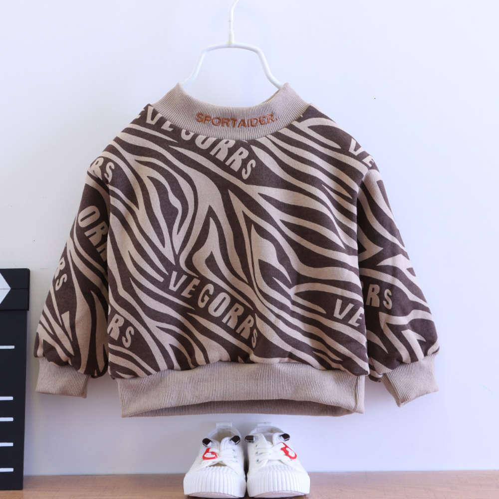 Vêtements d'enfants pour enfants Vêtements et garçons d'automne, pull épaissi en peluche coréenne pour enfants