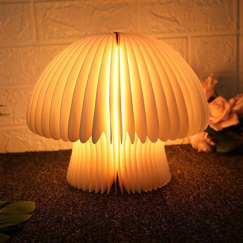 Kitap Işıkları LED Kitaplar Gece Ücretli USB Okuma Lambası Ahşap Yaratıcı Ev Yatak Odası Dekorasyon Masası Lambaları Için Katlanır