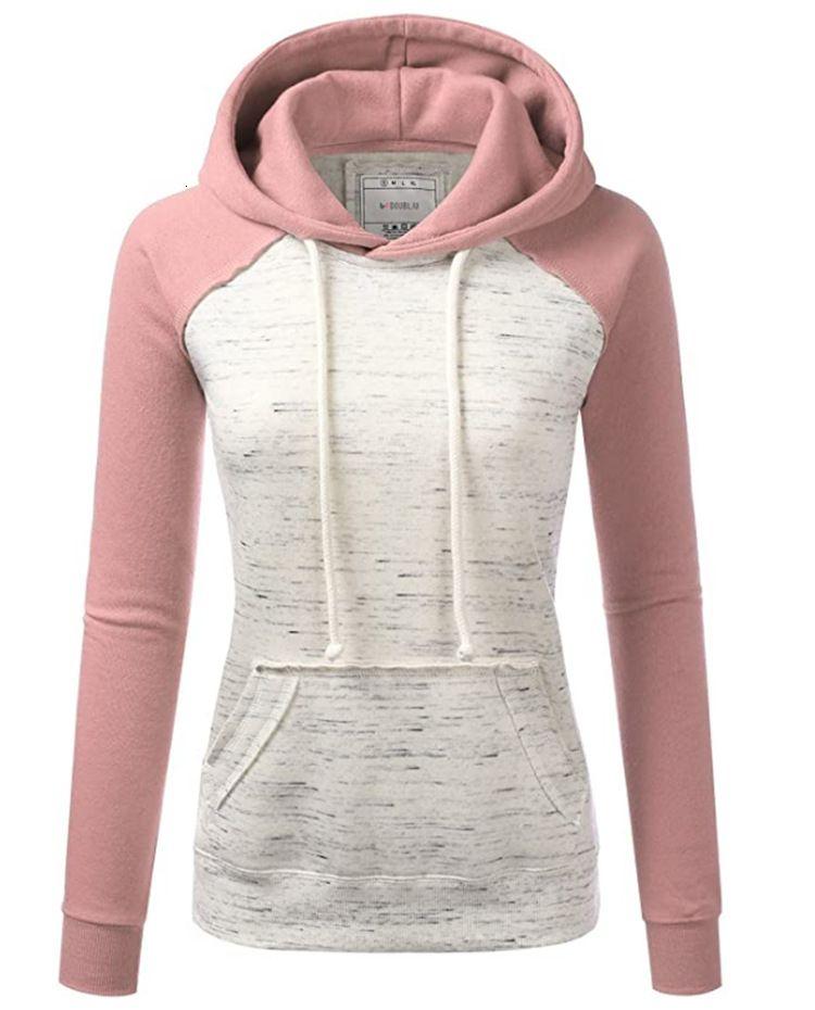 Hoodie de fleece da cor casual das mulheres novas no outono e inverno 20209Clt