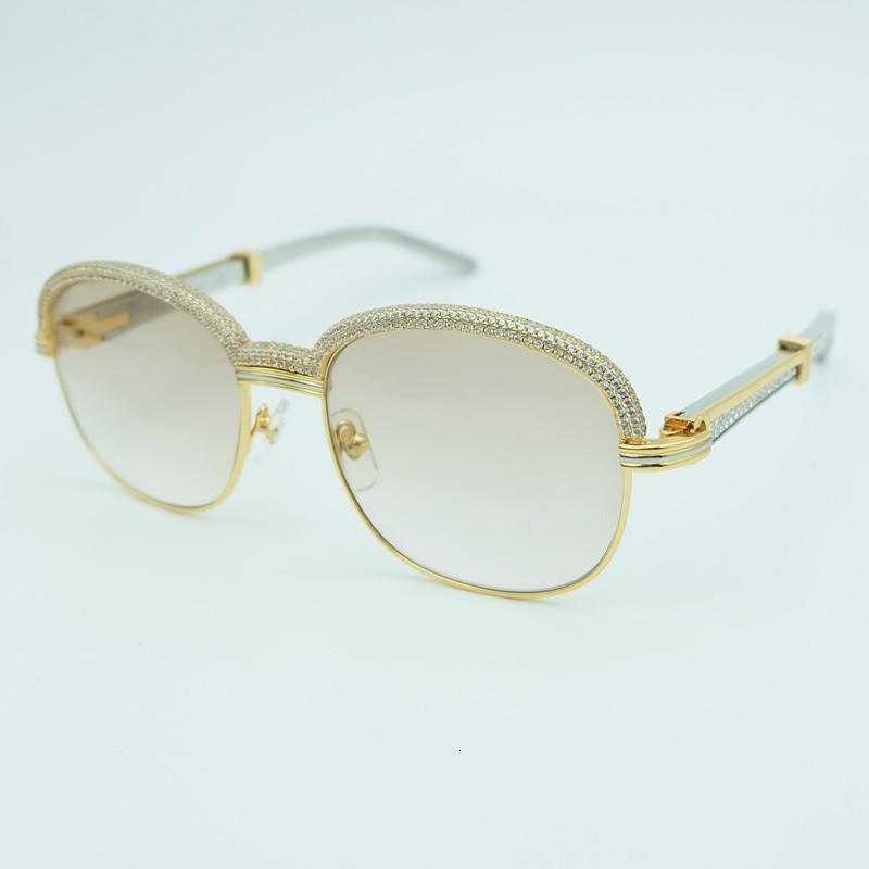 الماس الرجال كارتر البيضاوي نظارات الفولاذ الصلب أحجار الراين مكبرة خمر النساء نظارات الشمس