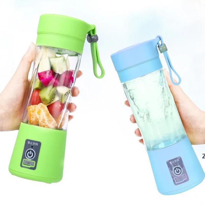 Taşınabilir USB Elektrikli Meyve Sıkacağı El Sebze Suyu Makinesi Blender Şarj Edilebilir Mini Suyu Yapımı Kupası Ile Şarj Kablosu Deniz DHC6916