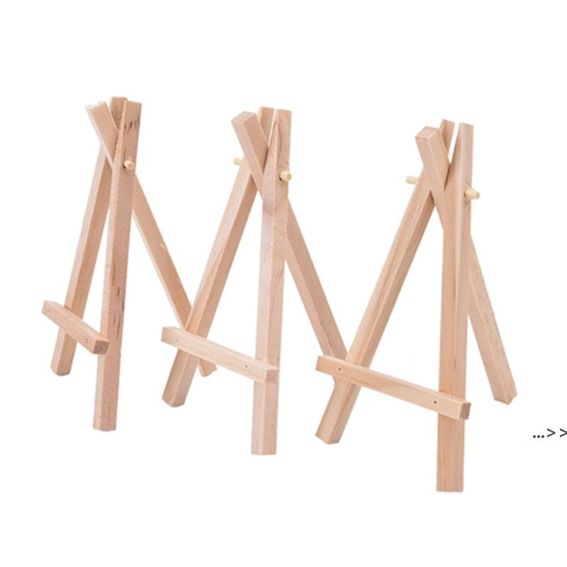 7x12.5cm mini wooden tripod easel Small Display Stand Artist Painting Business Card Displaying Photos Painting Supplies Wood Crafts DWF6666