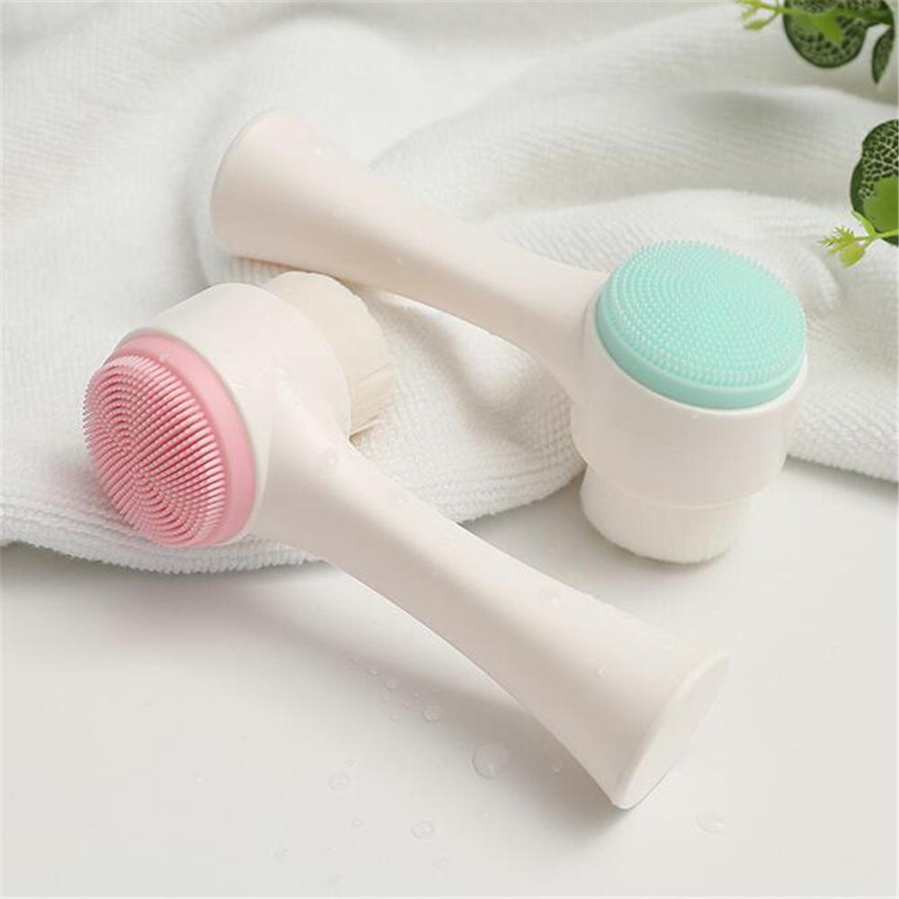 Двухсторонняя очистка лица Home Щетка Силиконовые лица Уход за кожей Инструмент Makeup Massage Cleanser Beauty Tools
