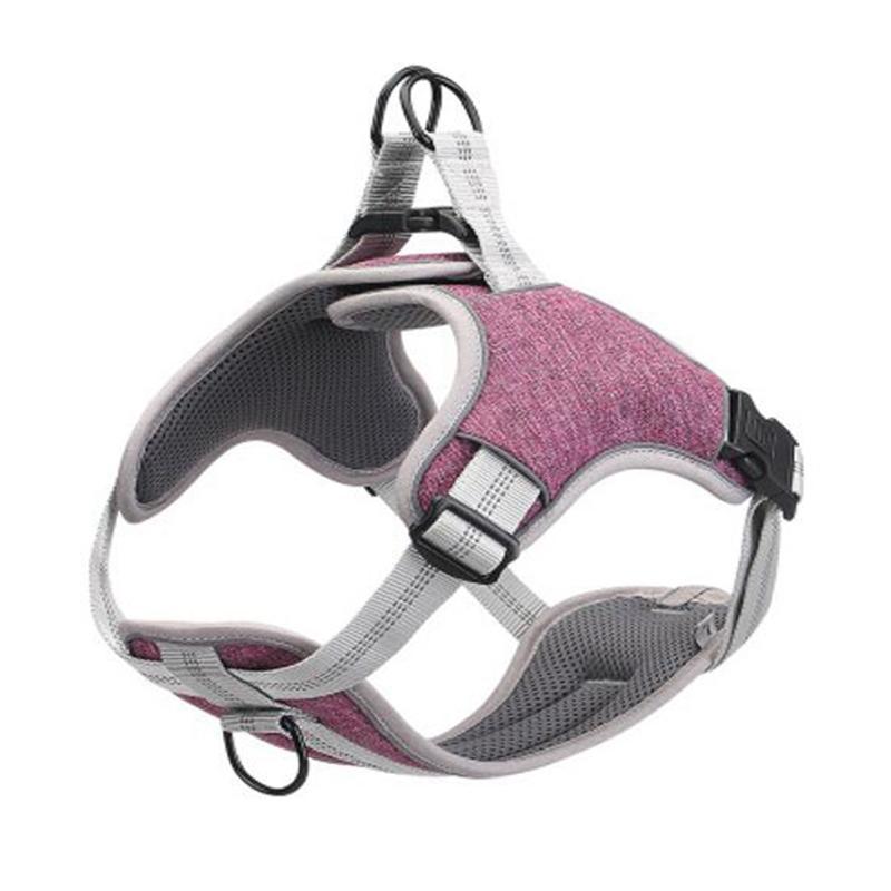 Coleiras de cachorro trelas de caixa reflexiva ajustável para animais de estimação quando sai no
