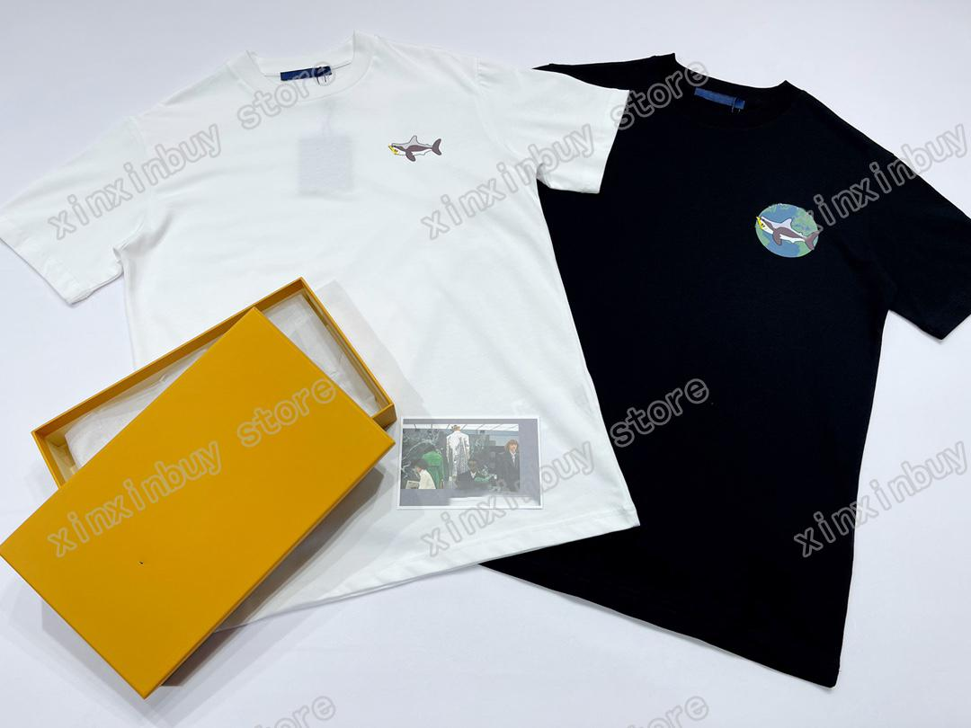 2021 diseñadores para hombre para mujer camisetas Polo Marine Fauna silvestre Hombre París Moda Camiseta Top TEA DE CALIDAD DE CALIDAD STREET STREET MANGUE LUXURYS TSHIRTS BLUE 05