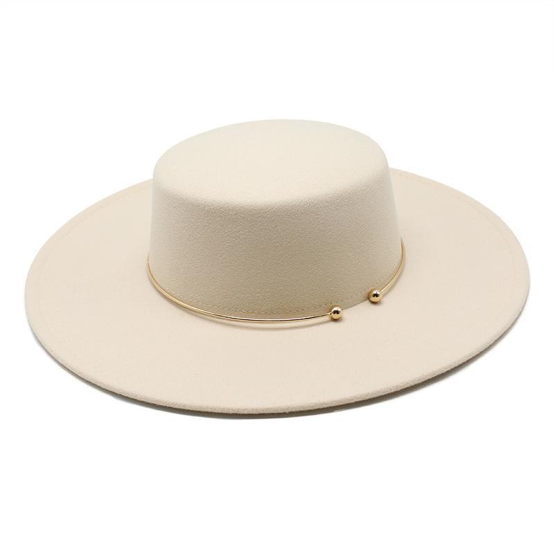 الفرنسية نمط 10 سنتيمتر واسعة بريم ديربي أعلى قبعة الإجتماعي الرياح هيبورن الرياح الصوف فيلت فيدوراس قبعة أنيقة فستان الزفاف قبعة