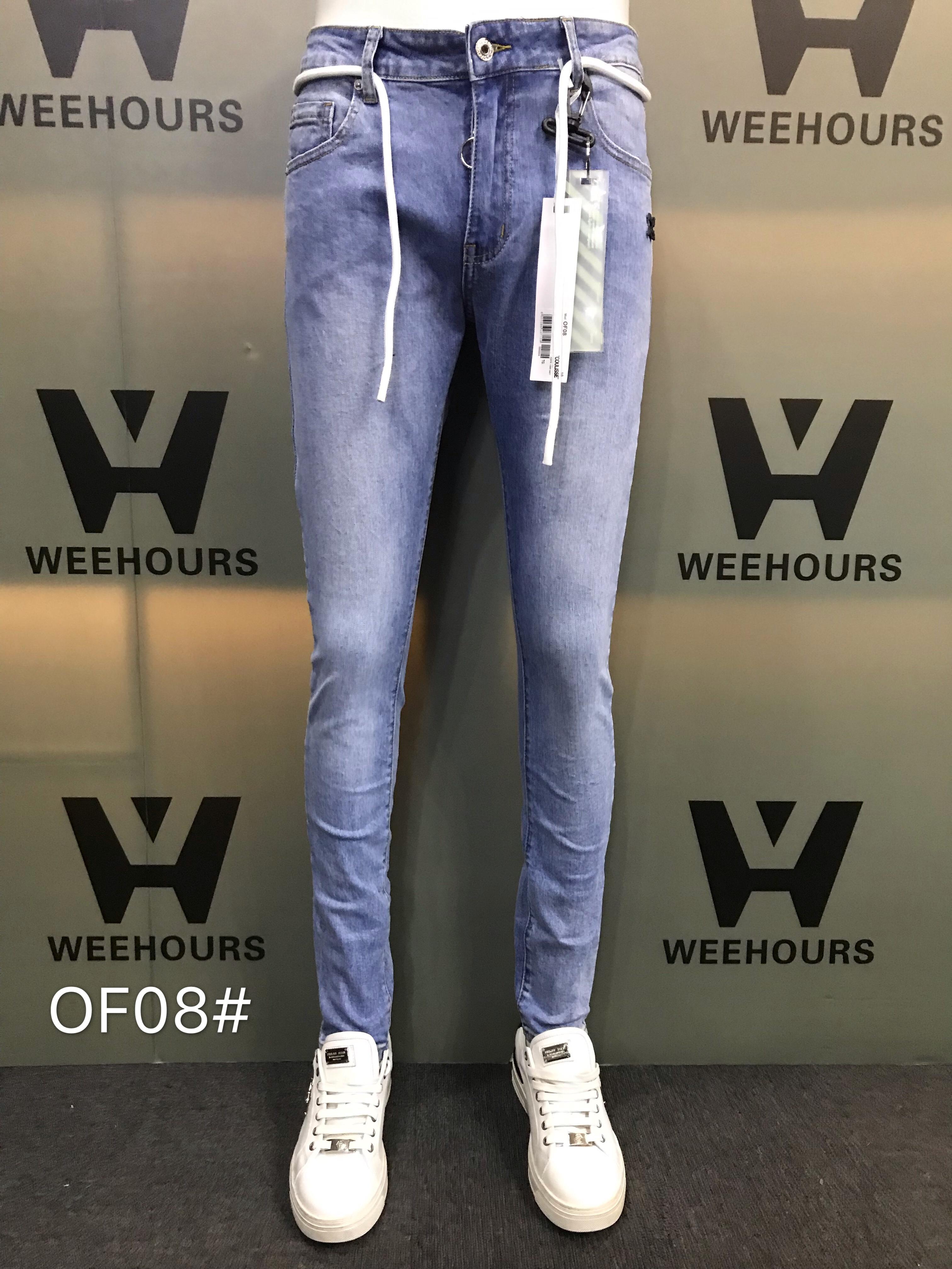 Jeans Hip-hop casuais masculinos e femininos Atualmente na venda Designer de luxo de 08-09