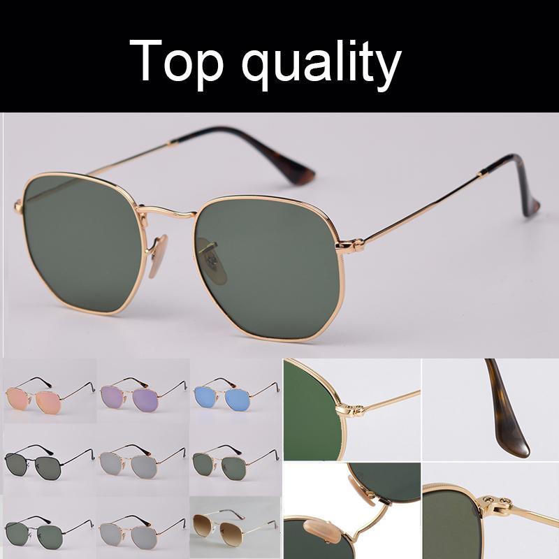 أعلى جودة 3548N النظارات الشمسية الرجال النساء النظارات السادسة العدسات الزجاج المسطحة رجل امرأة نظارات الشمس مع حقيبة جلد