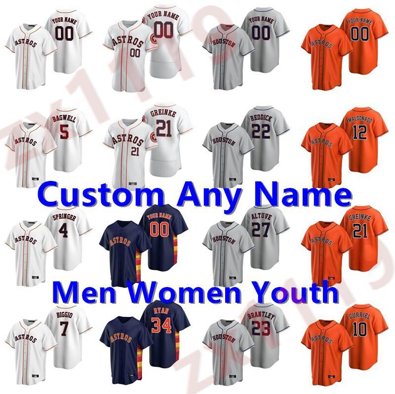20 21 남성 여성 키즈 청소년 Astros 27 Jose Altuve George Springer Michael Brantley 야구 10 Yuli Gurriel 2 Alex Bregman Verlander Jerseys