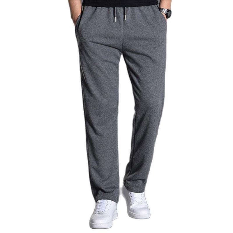 Calças masculinas de algodão Joggers Homens Jogging Sweatpants Sportswear Tracksuit Calças Esportivas Oversize Largura Roupas de Perna 5xL 2021 Primavera