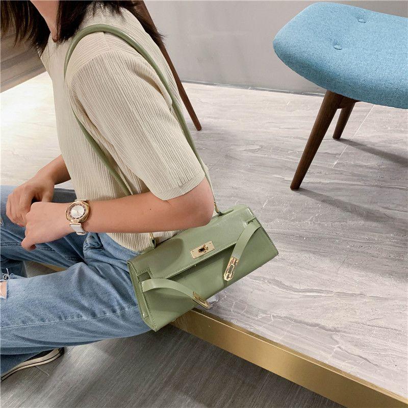 Billetera pequeña bolsa de mujer moda textura portátil mensajero