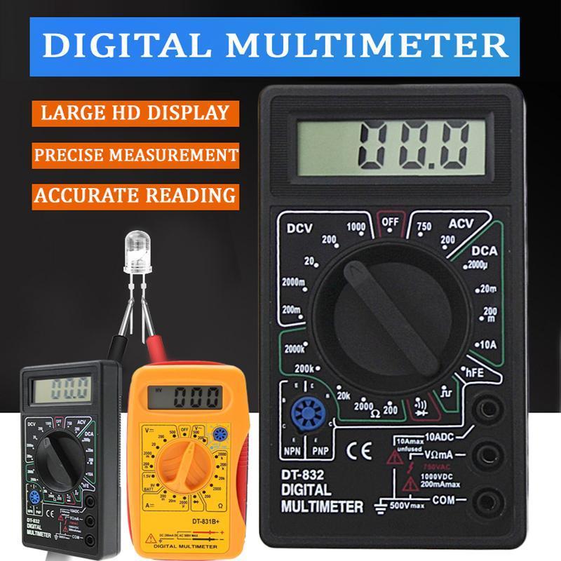 Multimetreler LCD Dijital Multimetre Test Cihazı Voltmetre Ölçüm Akım Direnç Sıcaklık Ölçer AC / DC Ampermetre Testi