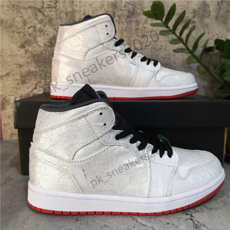 Top Quality Jumpman 1 1s High Travis Fearless Obsidian UNC Shoe Mens Womens Basketball Shoes Banned Bred Toe Chicago Boy Girl Running Sneakers