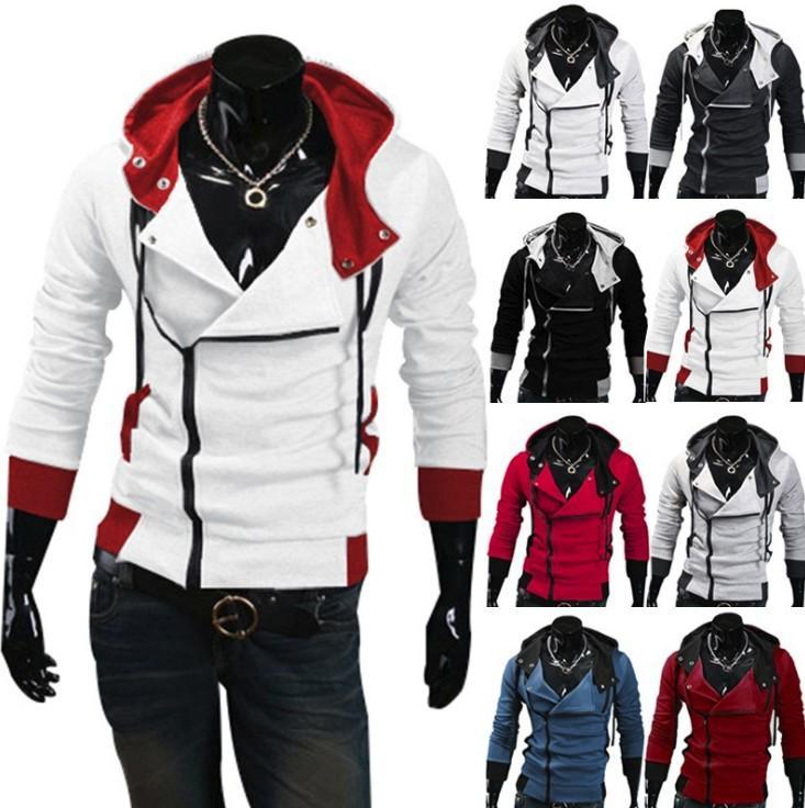 Herren Creed Assascins Kostüm 3 Mantel Cosplay Miles Hoodie Stilvolle Desmond Jacke Offen