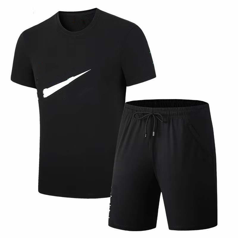Мода Мужские Летние трексуиты Мужчины футболки TEE + шорты Два частя костюмы Sportswear набор повседневных коротких наборов P0068