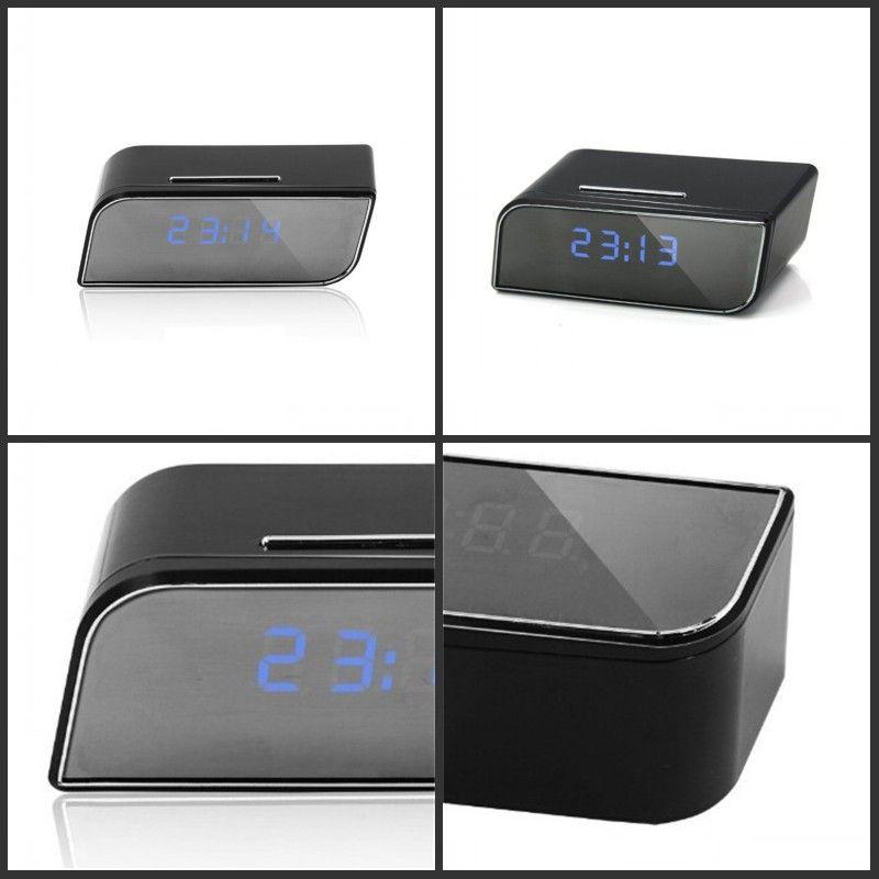 Sveglia Mini Camera Sveglia Sveglia Security Motion Detection Nanny IR Tavolo Clock US Plug HD 1080P 678 K2