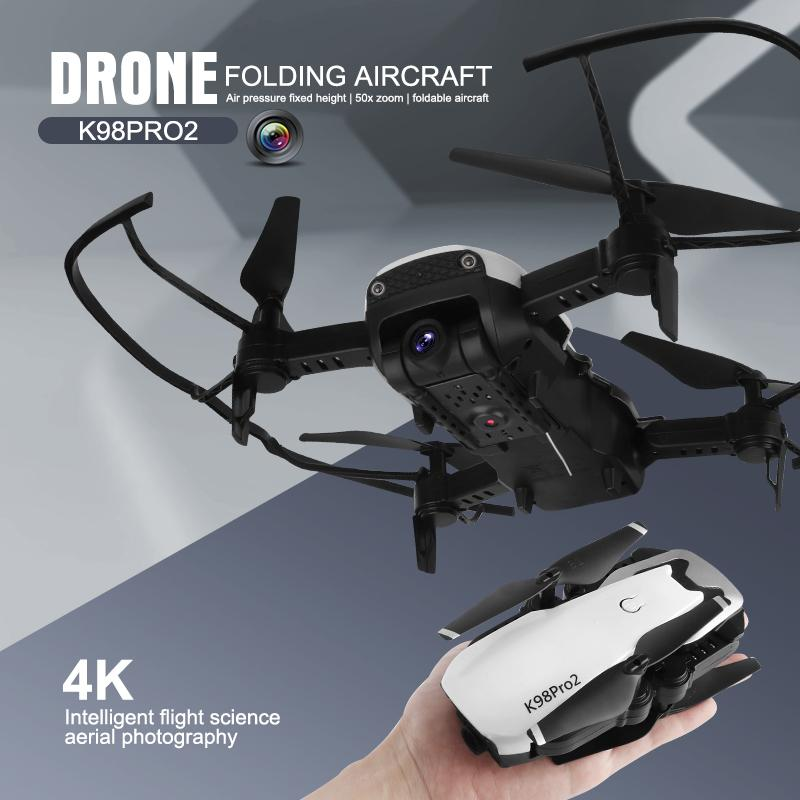 K98 برو 2 طي الطائرات بدون طيار UAV عالية الوضوح الجوي للتحكم عن بعد طائرة بدون طيار 4K الكاميرا المزدوجة
