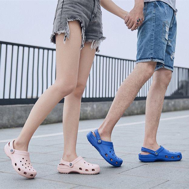 Zapatos de agujero Masculeas para hombre Amantes de los hombres Sandalias Sandalias Playa para mujer Sandalia Sandalia Sandalia Sandalia Hombre Sandali