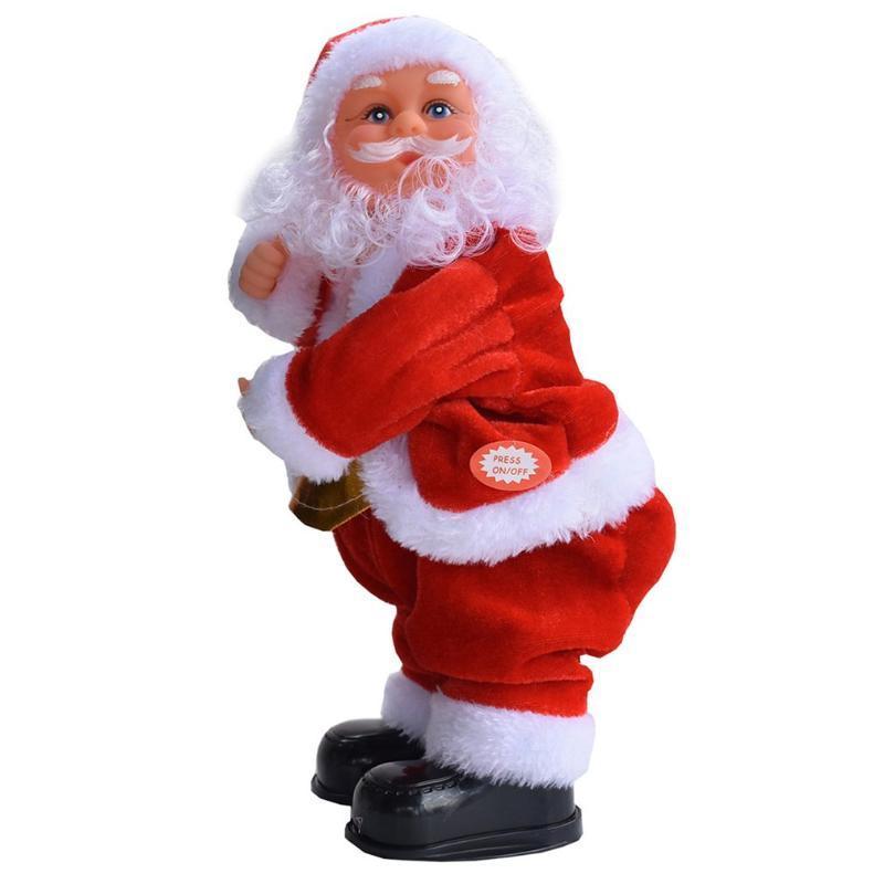 Decoraciones navideñas Sacudiendo los brazos Thumbs-up Música eléctrica Santa Claus Juguete Danza Musical Funk Decoración de Decoración Mágica