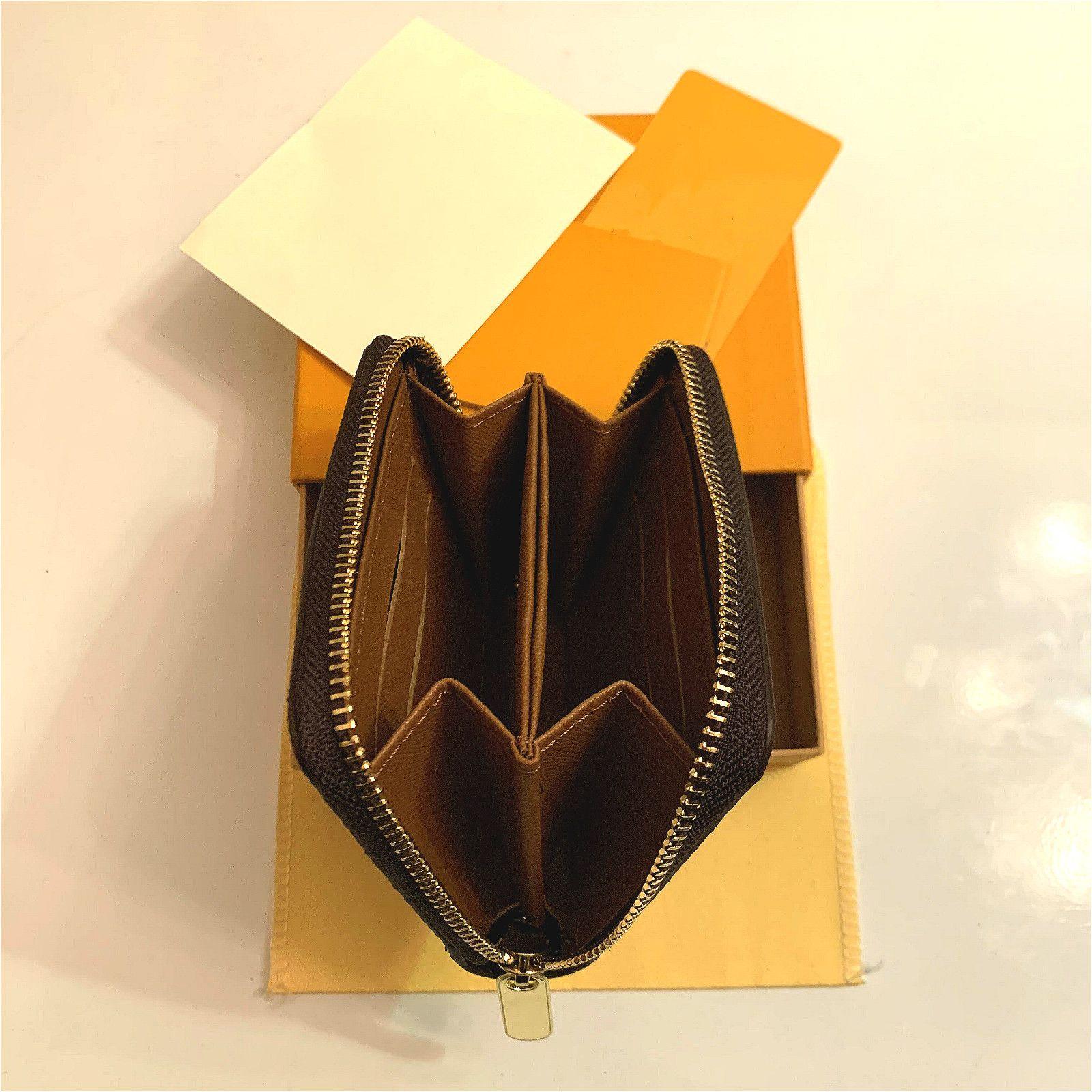 M42616 Designer di lusso Zippy Long Portafoglio Long Women's Zipper Brown Portafoglio Mono Gram Canvers Leather Check Plaid Portafoglio Buono Qaulity
