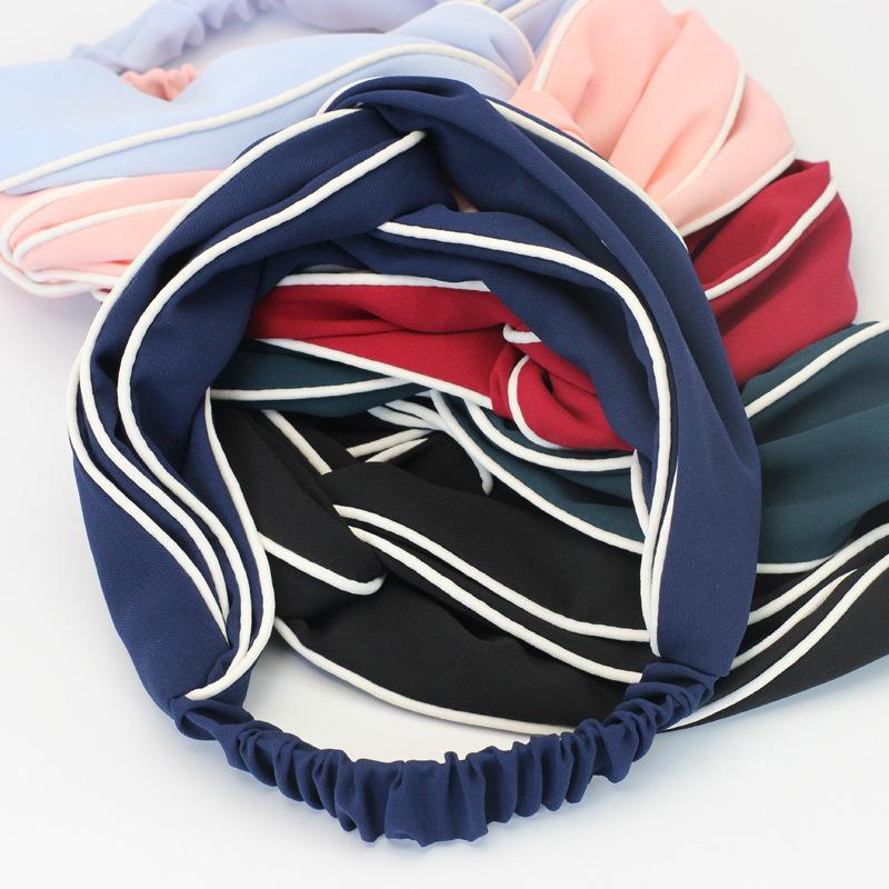 مقاطع الشعر المشابك الكورية الملحقات لطيف المشبك الصليب ب الصلبة اللون headb أغطية الرأس الرياضية بالجملة A978